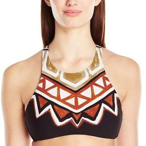 La Blanca High Neck Bikini Top Tanzania print 10